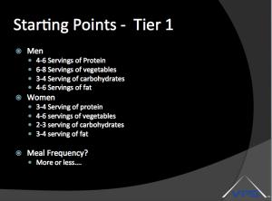 Tier 1 Nutrition