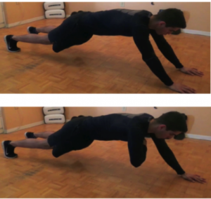 Long Plank With Armpit Touches